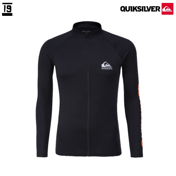 18 QUIKSILVER 퀵실버 집업 래쉬가드 ONE DAY3 ZIP-UP_BLK